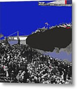 Launching Uss Arizona June 19 1915 Brooklyn Naval Yard Color Added 2013  Metal Print
