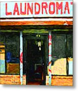 Laundromat 20130731pop Metal Print by Wingsdomain Art and Photography