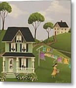 Laundry Day Metal Print by Catherine Holman