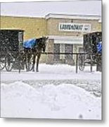 Laundry Day In Middlefield Metal Print