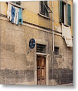 Laundry Day In Verona Metal Print