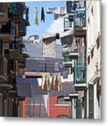 Laundry Ix Color Venice Italy Metal Print