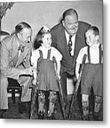 Laurel And Hardy In Ireland Metal Print