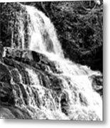 Laurel Falls Smoky Mountains 2 Bw Metal Print
