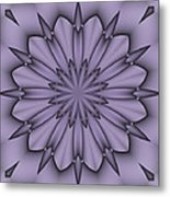 Lavender Abstract Flower Metal Print