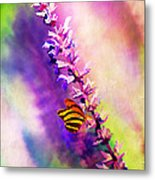 Lavender And Butterlies Metal Print