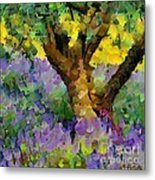 Lavender And Olive Tree Metal Print