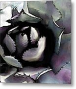 Lavender And Sage Green Spiky Succulent Plant Metal Print