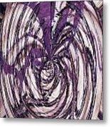 Lavender Bead Art Metal Print