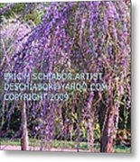 Lavender Butterfly Bush Metal Print