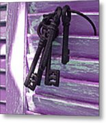 Lavender Cottage Keys Metal Print