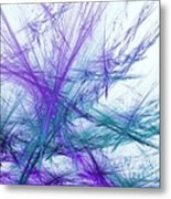Lavender Crosshatch Metal Print