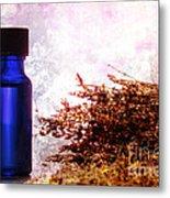 Lavender Essential Oil Bottle Metal Print