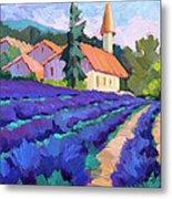 Lavender Field In St. Columne Metal Print