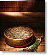 Lavender Flowers And Seeds Metal Print