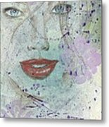Lavender In Red Lipstick Metal Print