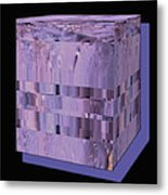 Lavender Light Box Metal Print