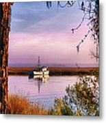 Lavender Light Reflections Metal Print