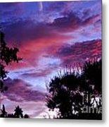 Lavender Pink And Blue Sunrise Metal Print