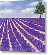 Lavender Season Metal Print