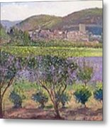 Lavender Seen Through Quince Trees Metal Print
