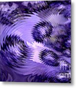 Lavender Water Abstract Metal Print