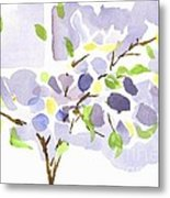 Lavender With Missouri Dogwood In The Window Metal Print