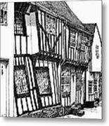 Lavenham Timber Metal Print
