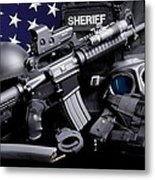 Law Enforcement Tactical Sheriff Metal Print by Gary Yost