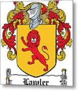 Lawler Coat Of Arms Irish Metal Print