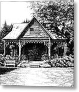 Lawn Chair Theater In Leiper's Fork Metal Print by Janet King