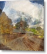 Lawrence Union Pacific Depot Metal Print