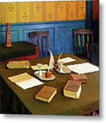 Lawyer - 19th Century Lawyer's Office Metal Print