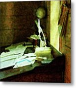 Lawyer - Desk With Quills And Papers Metal Print
