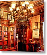 Lawyer - In The Library Metal Print