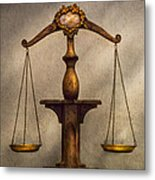 Lawyer - Scale - Fair And Just Metal Print