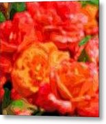 Layer Art Flowers Roses Metal Print