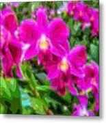 Layer Cut Out Art Flower Orchid Metal Print