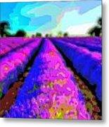 Layer Landscape Art Lavender Field Metal Print