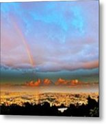 Layer Upon Layer Above L A  Metal Print