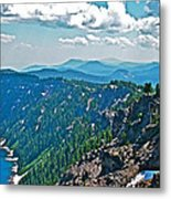 Layers Of Mountains From Watchman Overlook In Crater Lake National Park-oregon  Metal Print