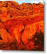 Layers Of Orange Rock Metal Print