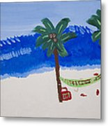 Lazy Beach Metal Print by Melissa Dawn