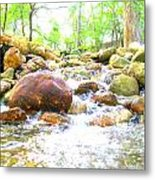 Lazy Rapids Open Metal Print