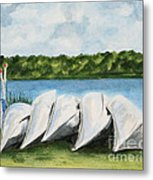Lazy River Metal Print