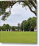 Lazy Sunday Afternoon - Cricket On The Village Green Metal Print