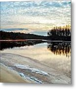 Lazy Winter River Metal Print by Michelle and John Ressler
