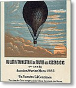 Le Ballon Advertising For French Aeronautical Journal Metal Print