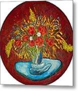 Le Bouquet Rouge - Original For Sale Metal Print