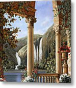 Le Cascate Metal Print by Guido Borelli